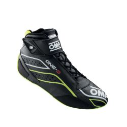 FIA topánky OMP ONE-S black/fluo yellow