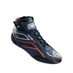 FIA topánky OMP ONE-S blue/fluo orange