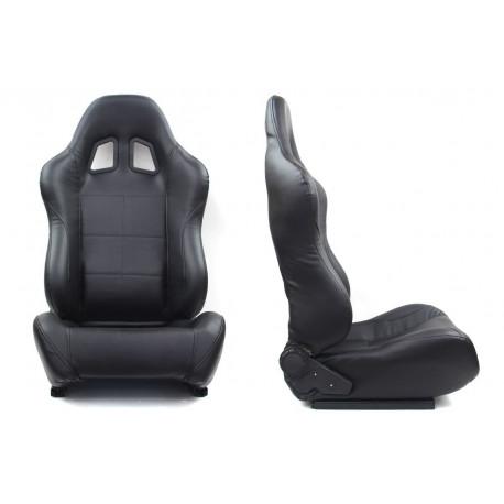 Športové sedačky Bez FIA homologizácie polohovateľné Športová sedačka MONZA POWER PVC čierna   race-shop.sk