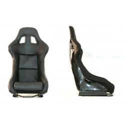 Športová sedačka EVO PVC CARBON čierna