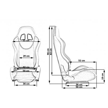 Športové sedačky Bez FIA homologizácie polohovateľné Športová sedačka MONZA PVC | race-shop.sk