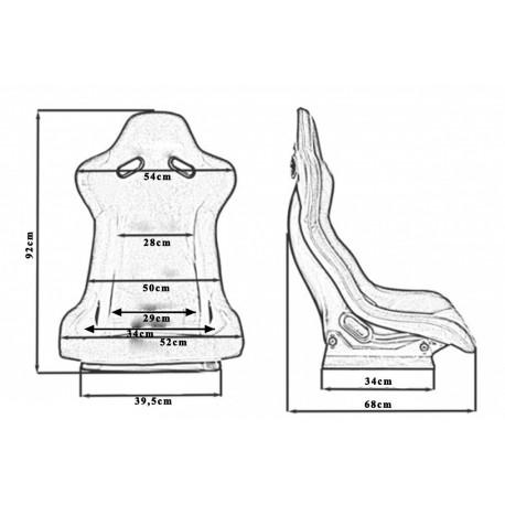 Športové sedačky Bez FIA homologizácie polohovateľné Športová sedačka RAPID Bride style   race-shop.sk