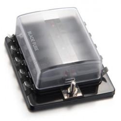 Poistkové puzdro (box) pre nožové poistky s LED