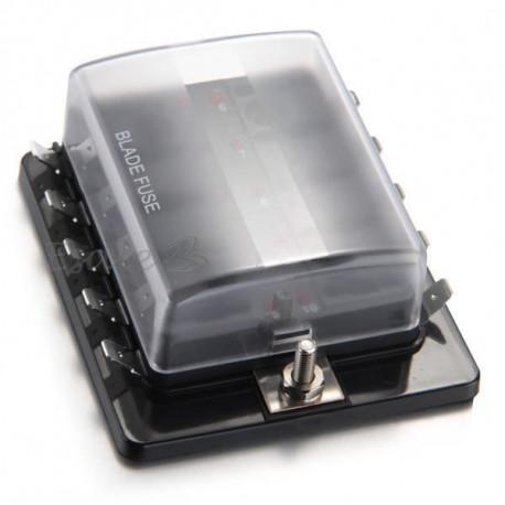 Poistky a poistkové púzdra Poistkové puzdro (box) pre nožové poistky s LED | race-shop.sk