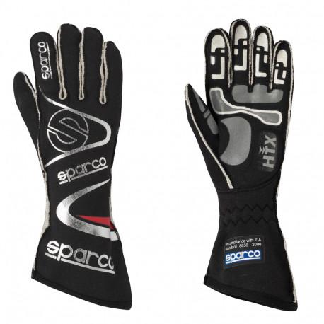 Rukavice Rukavice Sparco Arrow RG-7 s FIA homologizáciou (vonkajšie šitie) čierná/ strieborná | race-shop.sk