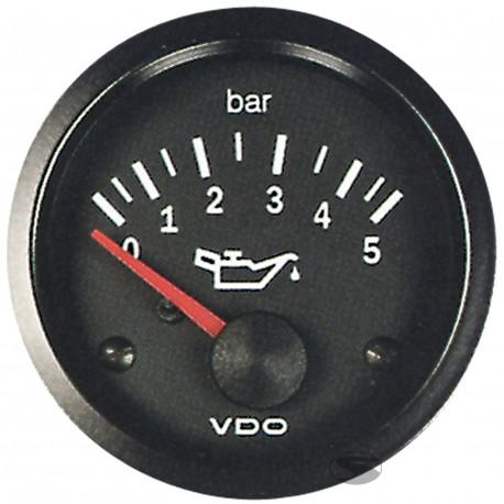 Budíky VDO Cockpit Vision Budík VDO tlak oleja (0-5 BAR) - cockpit vision séria   race-shop.sk