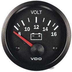 Budík VDO dobíjanie (voltmeter) - cockpit vision séria