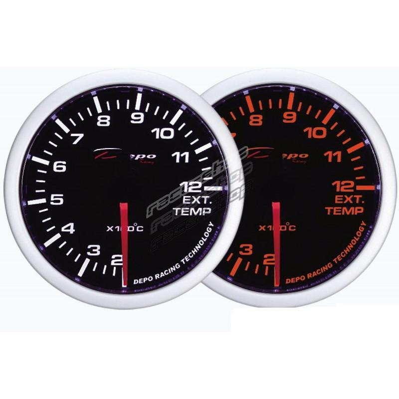 Depo Racing Gauge : Depo racing gauge exhaust gas temp white and amber
