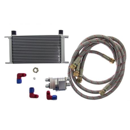 Univerzálne olejové chladiče Sada chladiča D1spec 19 radový + relokacný adaptér | race-shop.sk