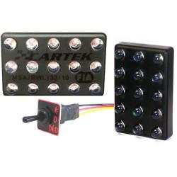 Svetlo LED s FIA 90x56mm s tlačitkom (3 módy)