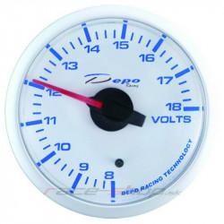 Budík DEPO racing Dobíjanie (voltmeter) - Super white séria