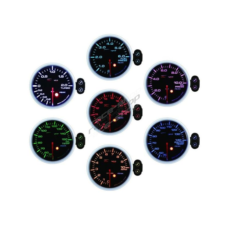 Depo Racing Gauge : Programmable depo racing gauge oil temperature color