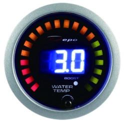 Digitálny Budík DEPO racing 2v1 Teplota vody + Tlak turba Digital combo séria