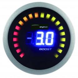 Digitálny Budík DEPO racing 2v1 Teplota výfukových plynov + Tlak turba Digital combo séria